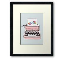 Aloha Typewriter Framed Print