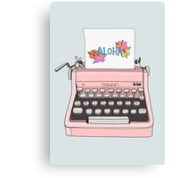 Aloha Typewriter Canvas Print