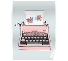 Aloha Typewriter Poster