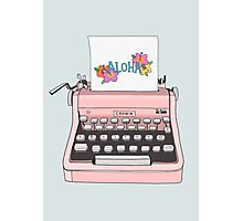 Aloha Typewriter Photographic Print