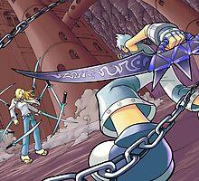 Soul Eater - Black Star and Tsubaki vs. Mifune by 57MEDIA