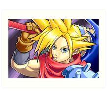 Final Fantasy - Kingdom Hearts - Cloud Strife Art Print