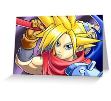 Final Fantasy - Kingdom Hearts - Cloud Strife Greeting Card