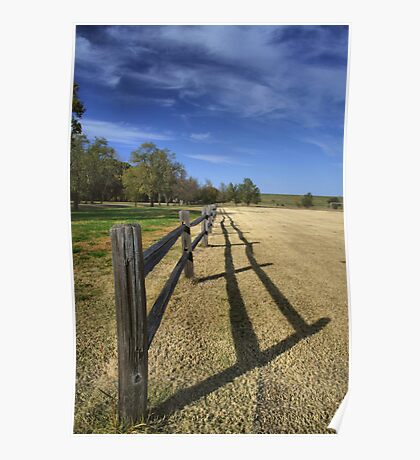 Fence Shadows Poster