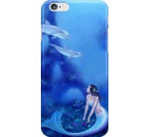 Ultramarine Mermaid & Dolphins iPhone Case/Skin