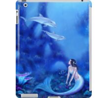 Ultramarine Mermaid & Dolphins iPad Case/Skin