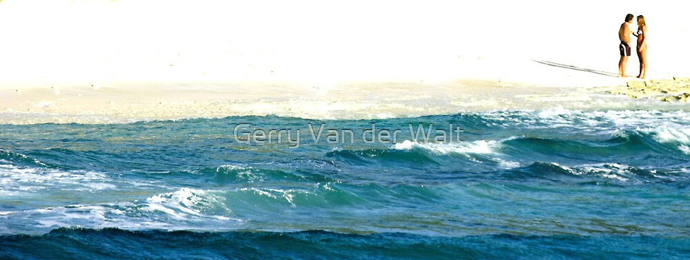 Couple on Beach by Gerry Van der Walt