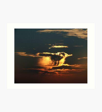 Sunset Drama 10 Art Print
