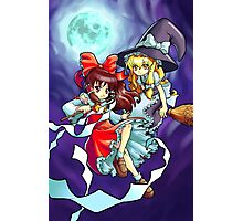Touhou - Reimu and Marisa Photographic Print