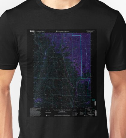 USGS TOPO Map Colorado CO Gunsight Pass 233191 2000 24000 Inverted Unisex T-Shirt