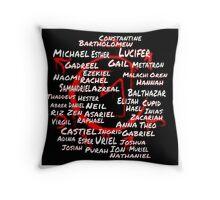 Supernatural Angel names  Throw Pillow