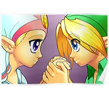 Legend of Zelda: Ocarina of Time - Young Link and Zelda Poster