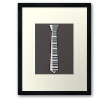 Keyboard Tie Black Edge Framed Print