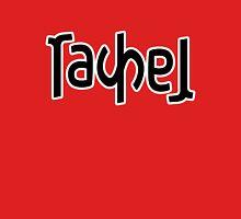 Rachel ambigram Womens Fitted T-Shirt