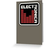 Electronica Red Meter Greeting Card
