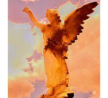 sunset angel Photographic Print