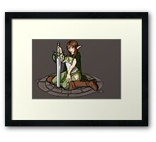 - Elven Sword Lady - Framed Print