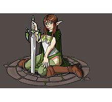 - Elven Sword Lady - Photographic Print