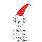 Christmas Teddy by sallystar