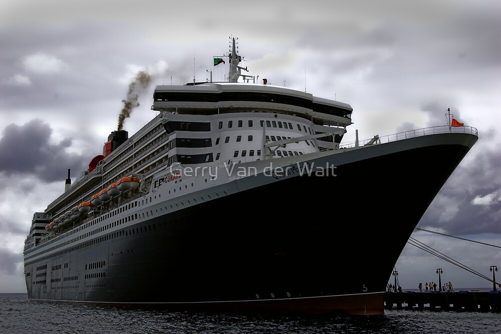 Queen Mary 2 - Docked in St. Kitts by Gerry Van der Walt