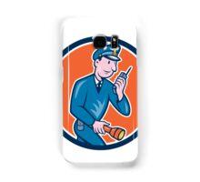 Policeman Torch Radio Circle Cartoon Samsung Galaxy Case/Skin