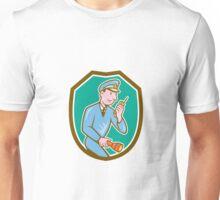 Policeman Torch Radio Shield Cartoon Unisex T-Shirt