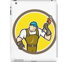 Plumber Monkey Wrench Circle Cartoon iPad Case/Skin
