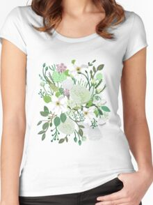 Floral Forest Women's Fitted Scoop T-Shirt