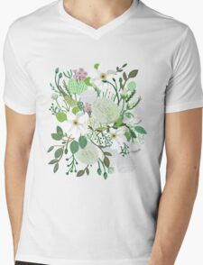 Floral Forest Mens V-Neck T-Shirt