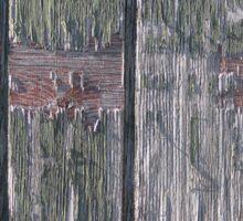 Grunge old wood background Sticker