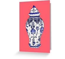 Blue and White Porcelain Greeting Card