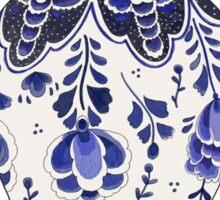 Blue and White Porcelain Sticker