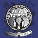 Vegan Police (To protect and to serve) by black-ink