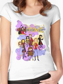 Once Upon An Adventure Time! Women's Fitted Scoop T-Shirt
