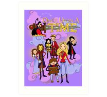 Once Upon An Adventure Time! Art Print