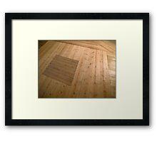 A beautiful hardwood classical floor  Framed Print
