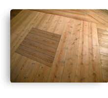 A beautiful hardwood classical floor  Canvas Print