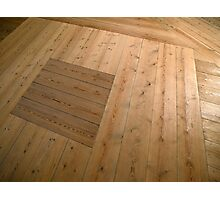 A beautiful hardwood classical floor  Photographic Print