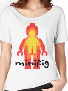 Yellow Orange Red Minifig  Women's Relaxed Fit T-Shirt