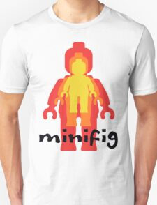 Yellow Orange Red Minifig  Unisex T-Shirt