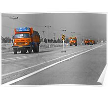The Road To Tehran is Littered With Orange Trucks Poster
