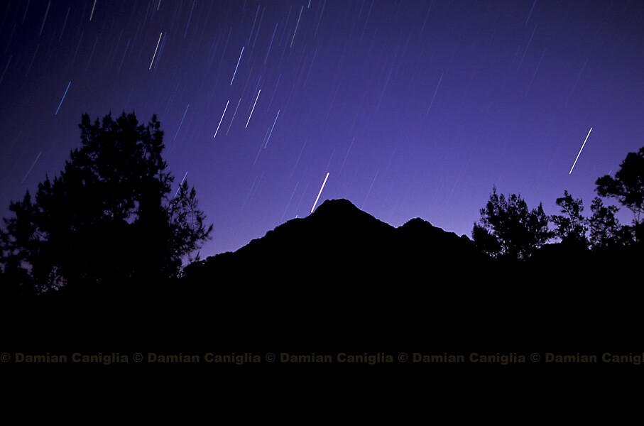 Startrails over Mt Barney, Australia by damiancaniglia