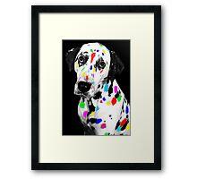 Multi-coloured Dalmatian Framed Print