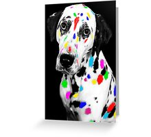 Multi-coloured Dalmatian Greeting Card