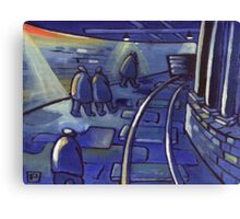 Down the coal mine (from my original acrylic ) Canvas Print