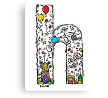 IMOK Letter H Canvas Print