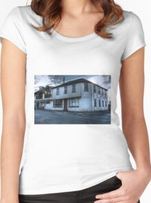 Prince of Wales Hotel, Evandale Women's Fitted Scoop T-Shirt