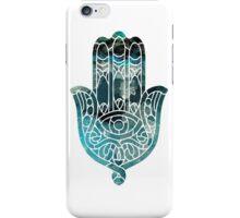 Blue Geo Hamsa iPhone Case/Skin