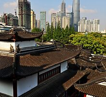 Over the Roofs of the Old City - Shanghai by Holger Mader