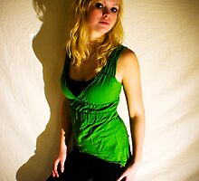 Sanna in green II by Pestbarn